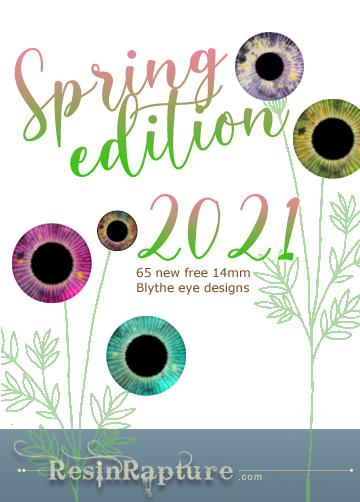 Free Blythe eye template sheets